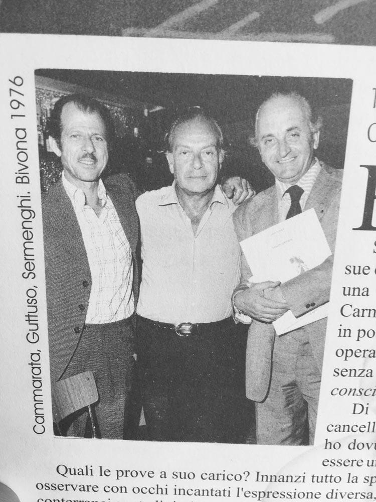 Carmelo Cammarata, Renato Guttuso e Cesare Sermenghi